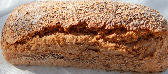 Spelled bread with nuts and seeds