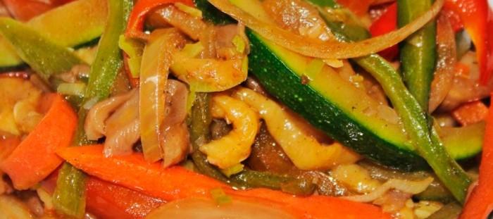 Sauteed vegetables Thai style